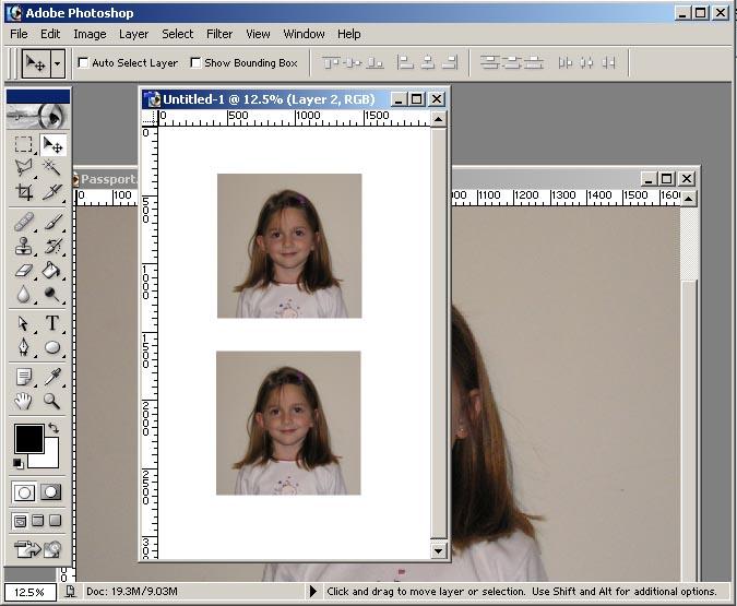 Как сделать фото для загранпаспорт фотошоп